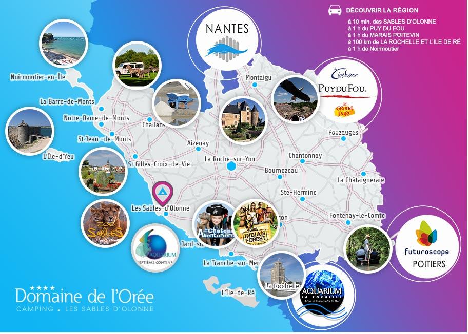 Les activités touristiques autour des Sables d'Olonne en Vendée