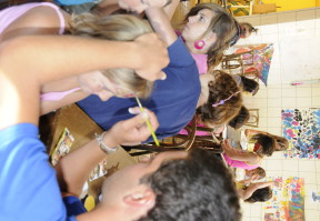 camping domaine oree vendee les sables d'olonne animation enfant mini club maquillage