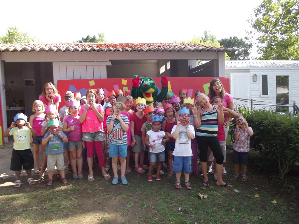 Le mini-club enfants du camping de bord de mer