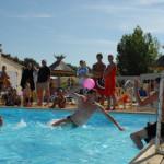 Les animations dans la piscine du Domaine de l'Orée