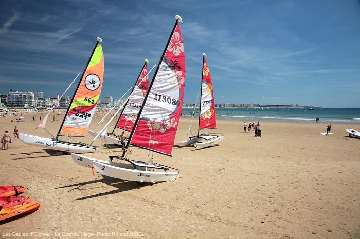 Sports nautiques sur les plages vendéennes