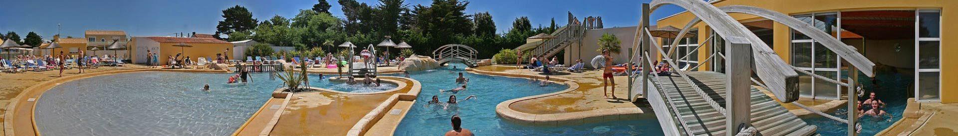le parc aquatique du camping Les Sables d'Olonne