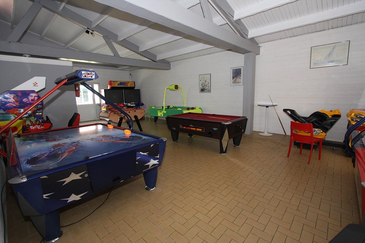 salle de jeux camping Les Sables d'Olonne