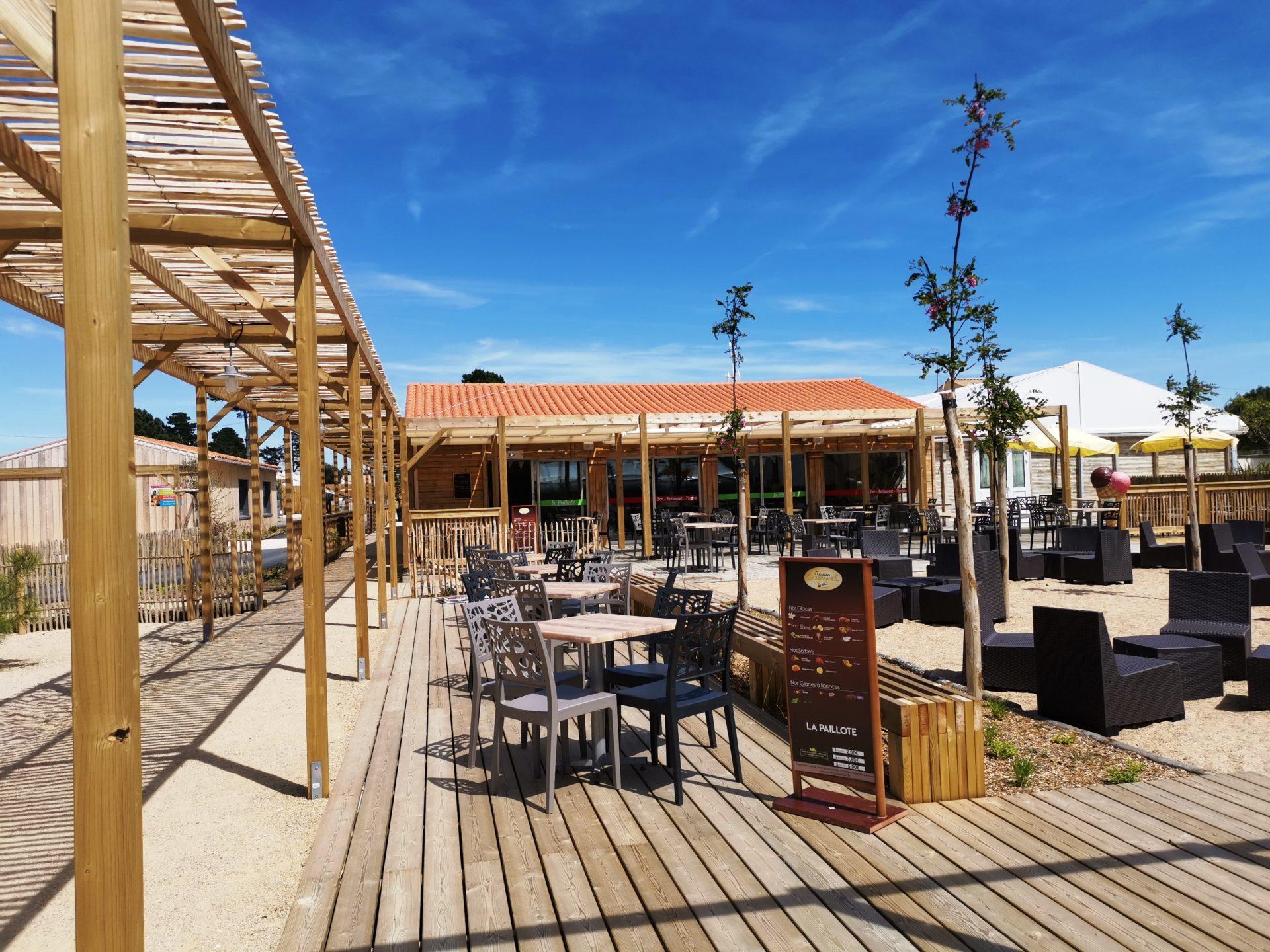 Bar La Paillote Camping Domaine de l'Orée Les Sables d'Olonne