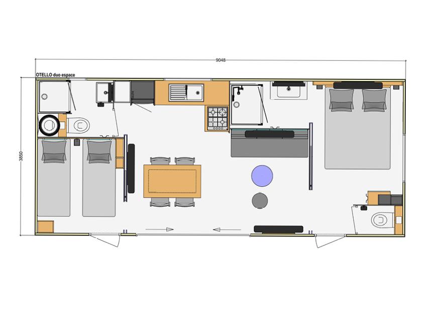Cottage Premium 2 chambres deux salles de bain camping Domaine de l'Orée les sables d'olonne