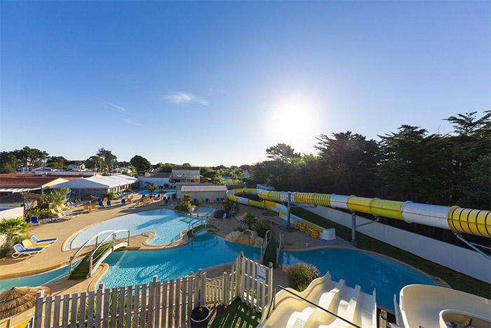 espace aquatique hôtellerie de plein air haut de gamme en Vendée