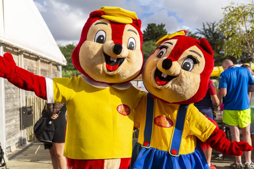 mascotte pour les enfants du camping aux Sables d'olonne